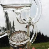 De prachtige Dubbele Kringloop Rokende Waterpijpen van het Glas van het Ontwerp (S-GB-263)