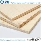9mm*2440mm*1220mm para los muebles de madera contrachapada comercial