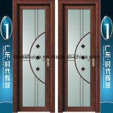 Puertas de aluminio del cuarto de baño del marco del vidrio helado para la decoración interior