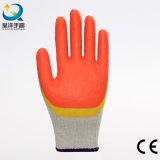 Lattice di colore del doppio delle coperture del cotone che tuffa il guanto del lavoro di sicurezza