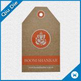 Venta caliente de la moda de papel Kraft marrón Hang Tag