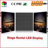 P4 Tamaño RGB todo color de interior LED Video Wall-512X512mm pantalla grande muestra de la exhibición Sistema de sincronización de fondo LED