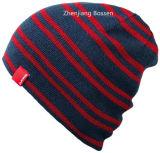 Acrylic продукции OEM дешевый резвится подгонянный Whinter Striped Beanie Slouch