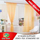 Самомоднейшее Plain Solid Sheer Voile Window Curtain с Loops, Ready Made Tab Top Sheer Voile Panel Curtains
