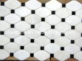 Decoración de mármol blanca del azulejo de mosaico