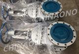 Válvula de porta do aço inoxidável para a água com flange