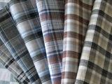 100% tejido de lino paño Yarnd teñido de chequeo se adapten a las prendas de vestir y moda ropa de lino puro Shirting paño de lino