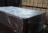 Madeira serrada Shuttering enfrentada película da madeira compensada do núcleo do Poplar de Brown (6X1220X2440mm)