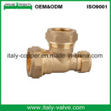 15mm CE Certified Brass Forged Compression Equal Tee (AV7013)
