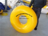 Yellow PVC Buoy Inflatable Water float tube for slip Slide