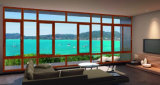Qualitäts-Aluminiumglas gebogenes schiebendes Fenster mit unterschiedlichem Entwurf