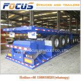 3개의 차축 반 평상형 트레일러 콘테이너 화물 실용적인 플래트홈 대형 트럭 트레일러