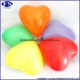 Orange Logo gedruckt kundenspezifische Herz-Form-Latex-Ballon
