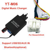 Carregador de música digital Yatour Yt-M06 para a Nissan>Car Audio Original USB/SD/Aux Kit com Kit de Bluetooth