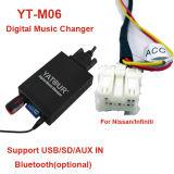 Commutateur Yt-M06 de musique numérique de Yatour pour le nécessaire sonore du véhicule USB/SD/Aux de Nissan>Original avec le nécessaire de Bluetooth