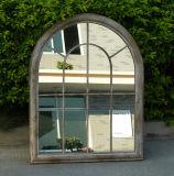 Espejo al aire libre de cristal de la pared del metal único (PL08-80255)