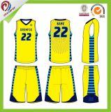 2017年のスポーツ・ウェアの新製品乾燥した適合のバスケットボールのジャージーのロゴデザイン