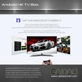 Cadre intelligent de TV basé sur le processeur du cortex A53 64bit de bras. personnalisation de Tvbox de faisceau de la quarte 2GB+16GB