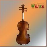 Violino a metà opaco con la fiamma artificiale