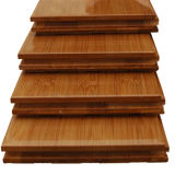 Suelo de bambú carbonizado vertical sólido de laca UV
