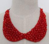 Halsband van de Nauwsluitende halsketting van het Kristal van de Parel van de Juwelen van de manier de Ruige (JE0054)