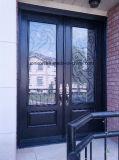 低いEガラスが付いている住宅の錬鉄の出入口