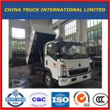 Sinotruk HOWO 4X2 소형 가벼운 쓰레기꾼 팁 주는 사람 덤프 트럭