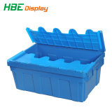 Turnover Plástico Storage Box con Hinged Lids