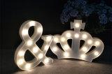 Гигантские светодиодные фонари с бегущей строкой письма или письма в рамке для освещения