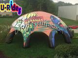 cupola gigante della tenda del ragno gonfiabile giallo per la pubblicità dell'evento