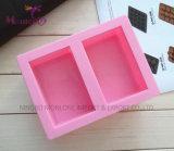 Savon fait main Two-Cavity moule silicone moule à gâteau 8*5*3.2cm