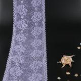 Laço 100% floral vermelho dos lótus da tela do poliéster