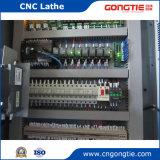 Torno del CNC de la precisión con el cargador del pórtico en bandeja más dos ruedas