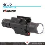 600lumen Picatinnyの柵の台紙の赤いレーザーの視力およびラットテール制御を用いる戦術的なピストルライフルの武器ライトクリー族LEDの懐中電燈