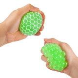 Sfera Squishy della maglia - sfera di gomma di sforzo dell'uva dello sfiato - che comprime la sfera di distensione della tensione - porpora