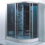 Templado cristal gris de cabina de ducha rectangular con puerta corredera Radio