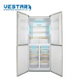 백색 빛 색깔을%s 가진 유리 4 문 냉장고