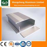 Le grand dos rond en aluminium siffle le profil en aluminium de porte de cabinet anodisé par espace libre de fente de Rod de rideau Alu U pour la DEL