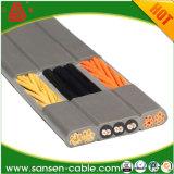 Провод плоского кабеля шнура выдвижения электропитания Pin H03vvh2-F 2X0.75mm2 VDE 2 белый