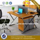 Armoire en bois moderne de verre aluminium / bureau de poste de travail Partition (HX-8N0237)