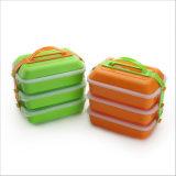 doos met 3 lagen van de Lunch Bento van de Container van het Voedsel de Plastic met 20029