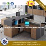 4개의 시트 L 모양 사무실 분할 다발 직원 워크 스테이션 (HX-8N2621)