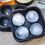 La vaisselle de cuisine de silicones stupéfiant des ventes chaudes Anti-Se fanent essai doux de plateau de glace de couleur de claquement de silicones du moulage (YB-st-1)