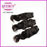 熱い販売の性質カラー100%人間の毛髪の織り方