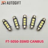 우수 품질 3SMD 5050 꽃줄 Canbus 자동 번호판 LED Canbus 전구