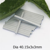 Kundenspezifischer langer starker permanenter Neodym-Magnet mit Zink-Beschichtung Dimension40.15X3X3mm