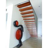 legno solido moderno azienda/della casa che fa galleggiare scala/scale diritte