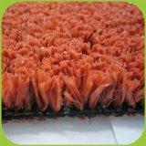 Mit hoher Schreibdichte rote Farben-künstliches Gras für Korb-Kugel-Bodenbelag