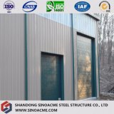 Magazzino chiaro prefabbricato della struttura dell'acciaio per costruzioni edili