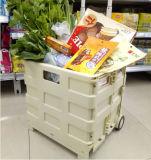 Saco elegante do trole da compra do supermercado feito em China